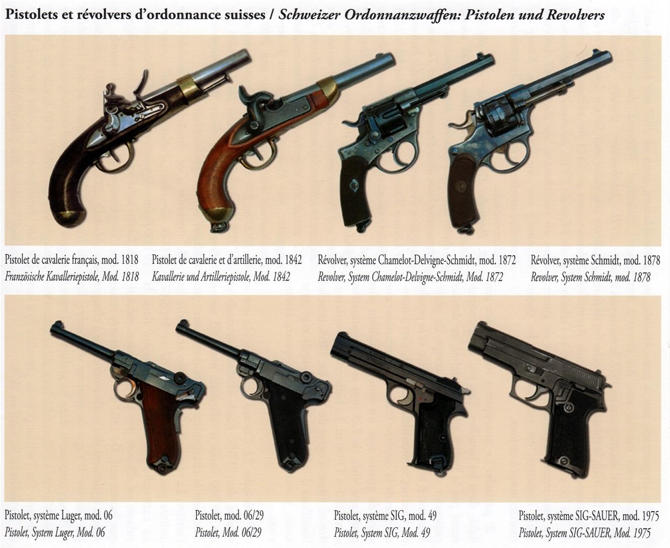 Historique : les fusils et pistolets d'ordonnance de l'Armée suisse